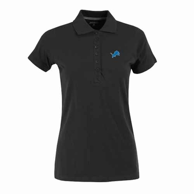 Detroit Lions Womens Spark Polo (Team Color: Black)