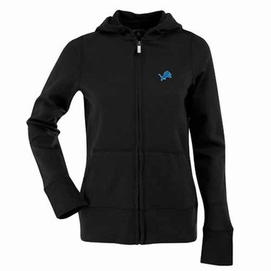 Detroit Lions Womens Zip Front Hoody Sweatshirt (Team Color: Black)