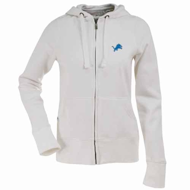 Detroit Lions Womens Zip Front Hoody Sweatshirt (Color: White)