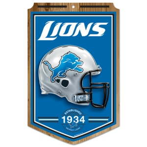 Detroit Lions Wood Sign