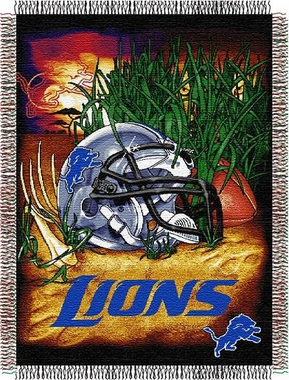 Detroit Lions Woven Tapestry Throw Blanket
