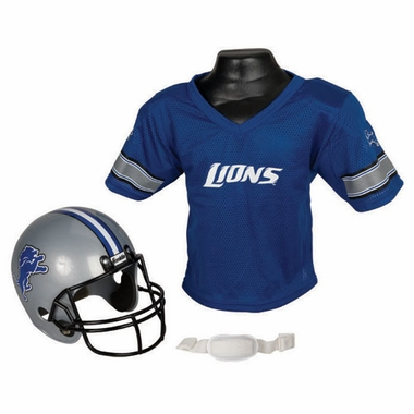 Detroit Lions Youth Helmet and Jersey Set
