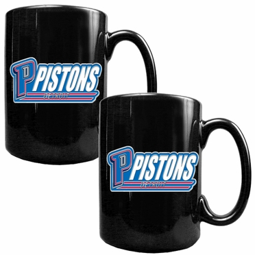 Detroit Pistons 2 Piece Coffee Mug Set (Wordmark)