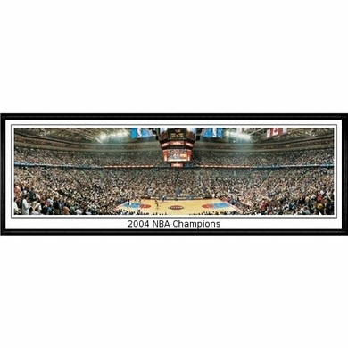 Detroit Pistons 2004 NBA Champions Framed Panoramic Print
