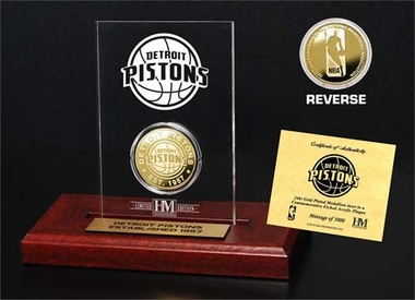 Detroit Pistons Detroit Pistons 24KT Gold Coin Etched Acrylic