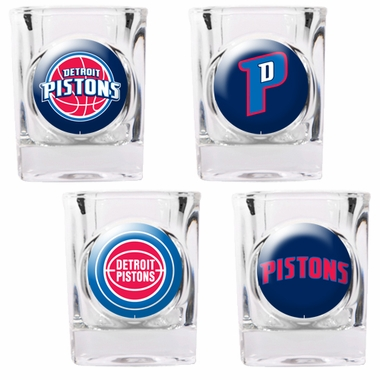 Detroit Pistons 4 Piece Assorted Shot Glass Set