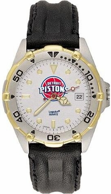 Detroit Pistons All Star Mens (Leather Band) Watch