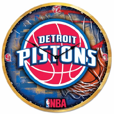 Detroit Pistons Big 18 Inch Hi Definition Clock