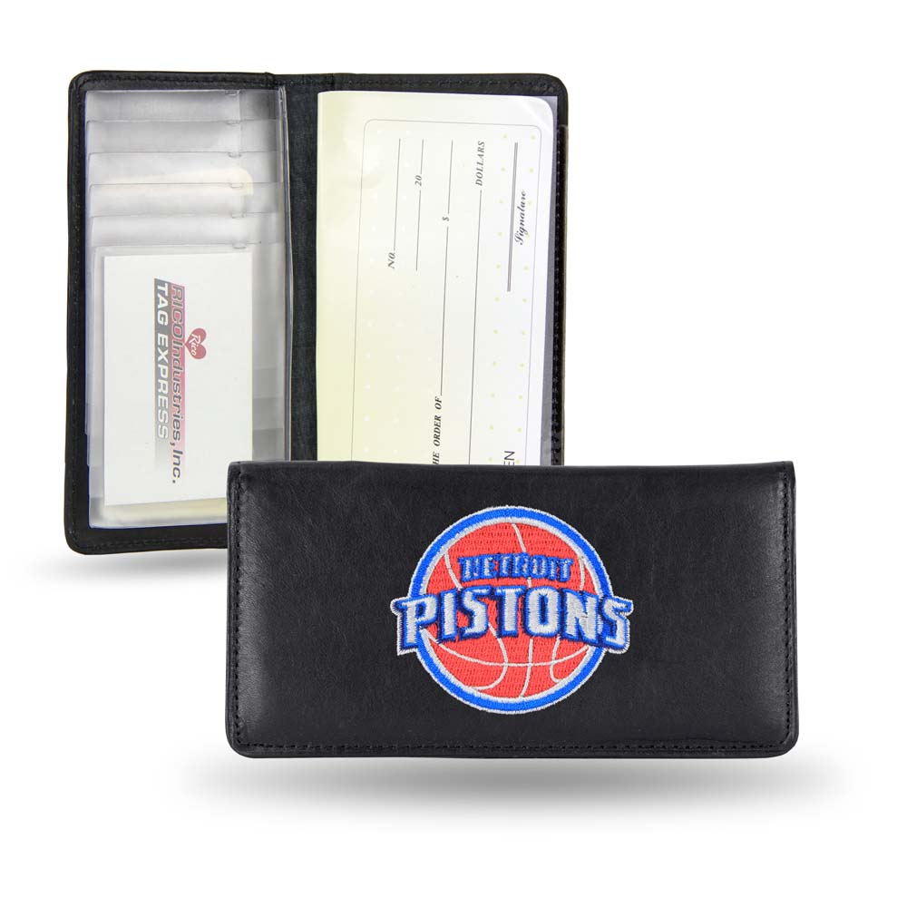 Rico Detroit Pistons Embroidered Leather Checkbook Cover