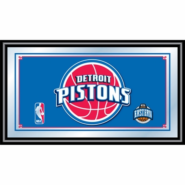 Detroit Pistons Framed Logo Bar Mirror