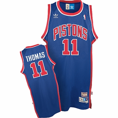 Detroit Pistons Isiah Thomas Adidas Team Color Throwback Replica Premiere Jersey