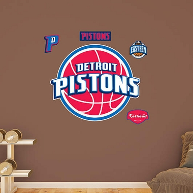 Detroit Pistons Logo Fathead Wall Graphic