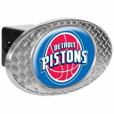 Detroit Pistons Metal Diamond Plate Trailer Hitch Cover