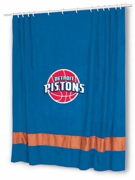 Detroit Pistons MVP Microsuede Shower Curtain