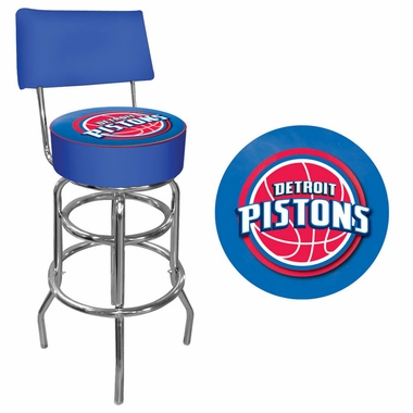 Detroit Pistons Padded Bar Stool with Back