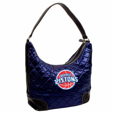 Detroit Pistons Quilted Hobo Purse