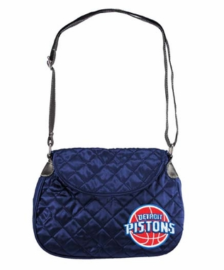 Detroit Pistons Quilted Saddlebag