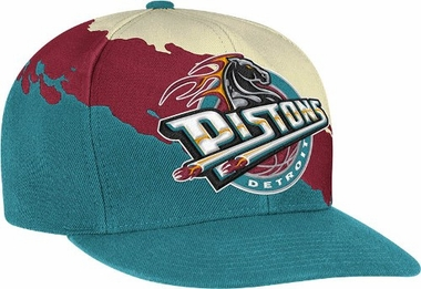 Detroit Pistons Vintage Paintbrush Snap Back Hat