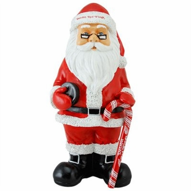 Detroit Red Wings 11 Inch Resin Team Santa Figurine