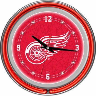 Detroit Red Wings 14 Inch Neon Clock