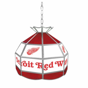 Detroit Red Wings 16 Inch Diameter Stained Glass Pub Light