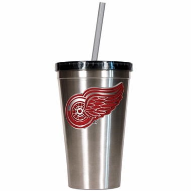Detroit Red Wings 16oz Stainless Steel Insulated Tumbler with Straw