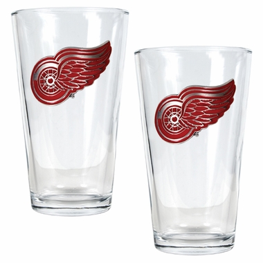 Detroit Red Wings 2 Piece Pint Glass Set