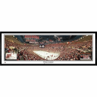 Detroit Red Wings 2008 Stanley Cup Champions Framed Panoramic Print