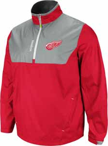 Detroit Red Wings 2012 1/4 Zip Performance Hot Jacket - Large