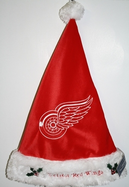 Detroit Red Wings 2012 Team Logo Plush Santa Hat