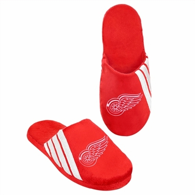 Detroit Red Wings 2012 Team Stripe Logo Slippers