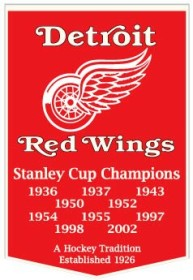 """Detroit Red Wings 24""""x36"""" Dynasty Wool Banner"""