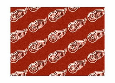 "Detroit Red Wings 3'10"" x 5'4"" Premium Pattern Rug"
