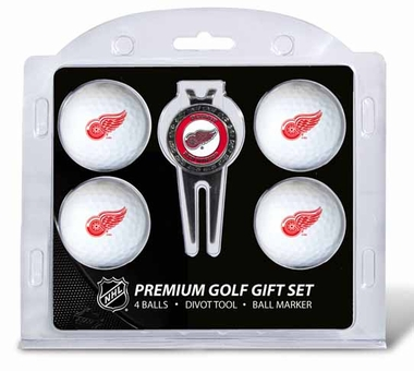 Detroit Red Wings 4 Ball and Tool Gift Set