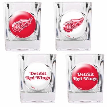 Detroit Red Wings 4 Piece Assorted Shot Glass Set