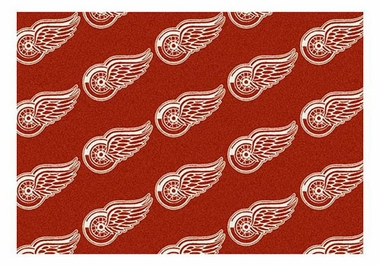 "Detroit Red Wings 5'4"" x 7'8"" Premium Pattern Rug"