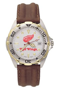 Detroit Red Wings All Star Mens (Leather Band) Watch