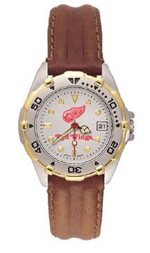 Detroit Red Wings All Star Womens (Leather Band) Watch