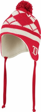 Detroit Red Wings Argyle Tassel Knit Hat