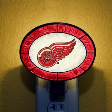 Detroit Red Wings Art Glass Night Light