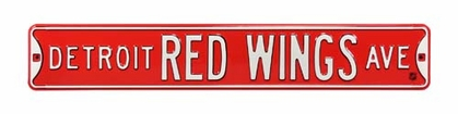Detroit Red Wings Ave Street Sign