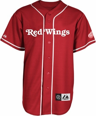 Detroit Red Wings Baseball Style Jersey