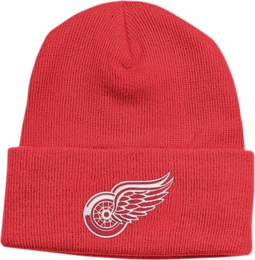 Detroit Red Wings Basic Logo Red Cuffed Knit Hat
