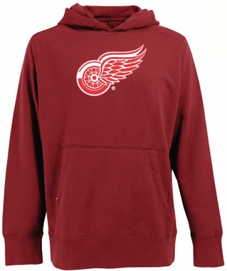 Detroit Red Wings Big Logo Mens Signature Hooded Sweatshirt (Color: Red)