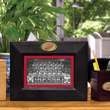Detroit Red Wings BLACK Landscape Picture Frame