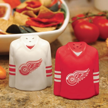 Detroit Red Wings Ceramic Jersey Salt and Pepper Shakers