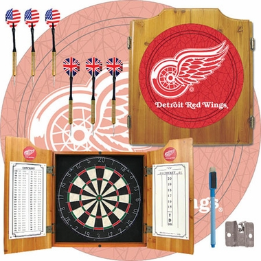 Detroit Red Wings Complete Dart Cabinet