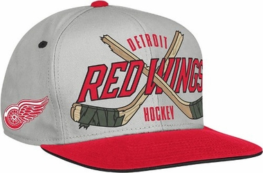 Detroit Red Wings Cross Sticks Snap back Hat