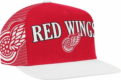 Detroit Red Wings Double Graphic Laser Stitched Snap Back Hat