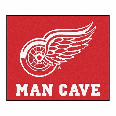 Detroit Red Wings Economy 5 Foot x 6 Foot Man Cave Mat